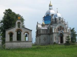 Церква святого Миколая в селі Гончарівка (колишнє Белзець) Золочівського району Львівської області Україна.